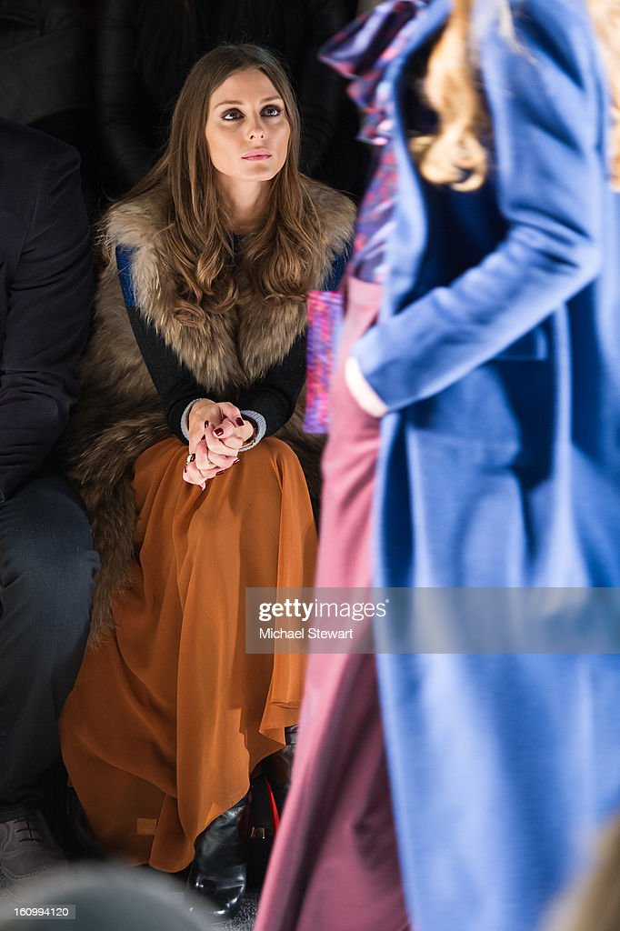 TV personality <a gi-track='captionPersonalityLinkClicked' href=/galleries/search?phrase=Olivia+Palermo&family=editorial&specificpeople=2639086 ng-click='$event.stopPropagation()'>Olivia Palermo</a> attends Noon By Noor Fall 2013 Mercedes-Benz Fashion Week at The Studio at Lincoln Center on February 8, 2013 in New York City.