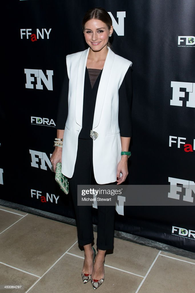 TV personality Olivia Palermo attends the 27th Annual Footwear News Achievement Awards at the IAC Building on December 3 2013 in New York City