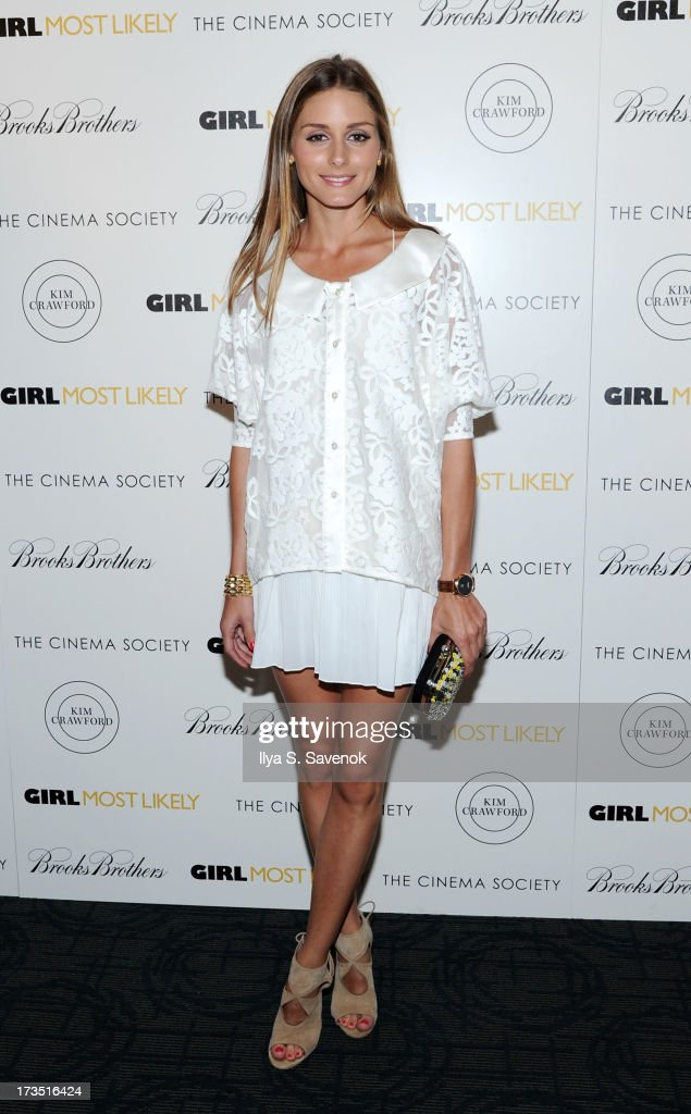Personality <a gi-track='captionPersonalityLinkClicked' href=/galleries/search?phrase=Olivia+Palermo&family=editorial&specificpeople=2639086 ng-click='$event.stopPropagation()'>Olivia Palermo</a> attends The Cinema Society & Brooks Brothers Host A Screening Of Lionsgate And Roadside Attractions' 'Girl Most Likely's at Landmark Sunshine Cinema on July 15, 2013 in New York City.