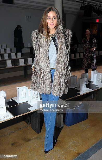 TV personality Olivia Palermo attends the Peter Som Fall 2012 fashion show during MercedesBenz Fashion Week at Milk Studios on February 10 2012 in...