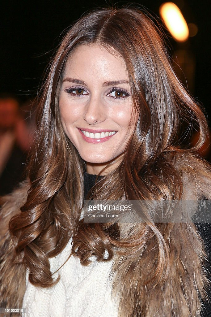 TV personality Olivia Palermo attends the Philosophy By Natalie Ratabesi fall 2013 fashion show during Mercedes-Benz Fashion Week at Roseland Ballroom on February 13, 2013 in New York City.