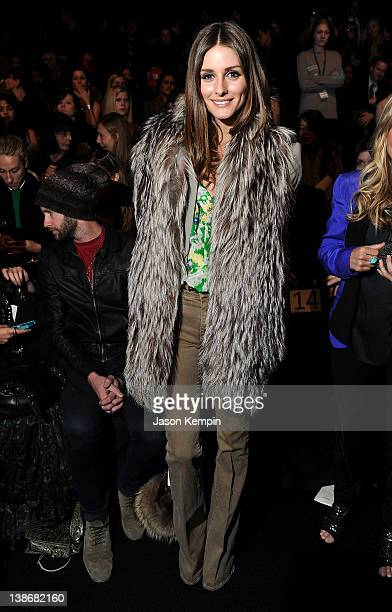 TV personality Olivia Palermo attends the Rebecca Minkoff Fall 2012 fashion show during MercedesBenz Fashion Week at The Theatre at Lincoln Center on...