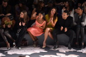TV personality Olivia Palermo Jada Pinkett Smith model Chrissy Teigen singer John Legend and Rachel Roy attend the Vera Wang Fall 2013 fashion show...