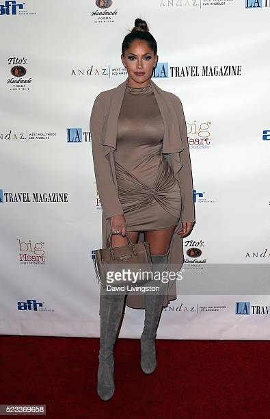 TV personality Olivia Pierson attends Los Angeles Travel Magazine's release of its 2016 spring issue at Andaz West Hollywood on April 22 2016 in West...