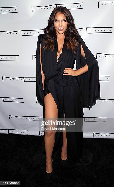 TV personality Olivia Pierson attends the Michael Costello and Style PR Capsule Collection launch party on July 23 2015 in Los Angeles California