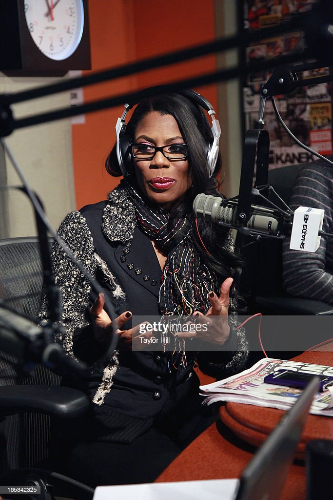 TV personality Omarosa appears on at SiriusXM Studios on April 2, 2013 in New York City.