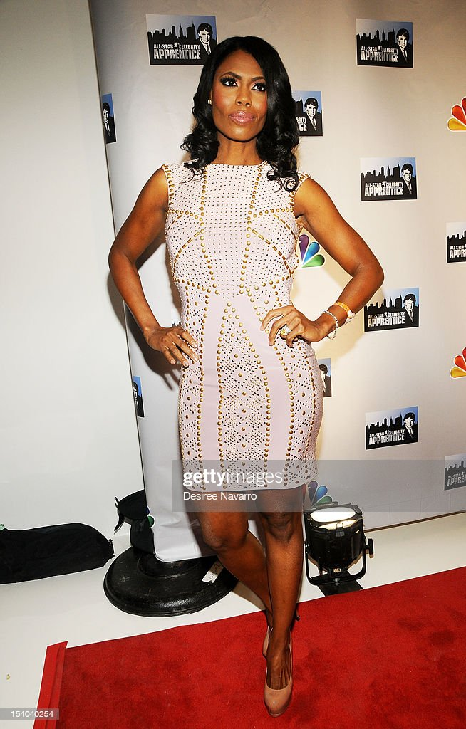 TV Personality Omarosa attends the 'Celebrity Apprentice All Stars' Season 13 Press Conference at Jack Studios on October 12, 2012 in New York City.