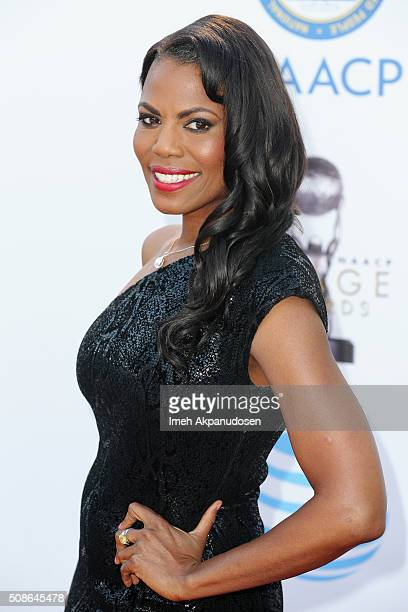 TV personality Omarosa Manigault attends the 47th NAACP Image Awards presented by TV One at Pasadena Civic Auditorium on February 5 2016 in Pasadena...
