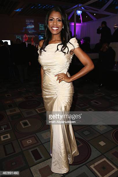 TV personality Omarosa Manigault attends the after party for the 46th NAACP Image Awards presented by TV One at Pasadena Civic Auditorium on February...