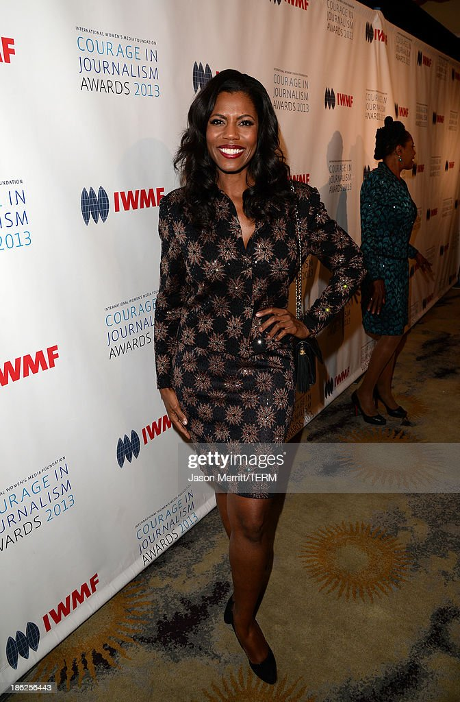 TV personality Omarosa Manigault attends the International Women's Media Foundation's 2013 Courage in Journalism Awards at the Beverly Hills Hotel on October 29, 2013 in Beverly Hills, California.