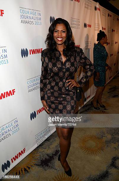 TV personality Omarosa Manigault attends the International Women's Media Foundation's 2013 Courage in Journalism Awards at the Beverly Hills Hotel on...