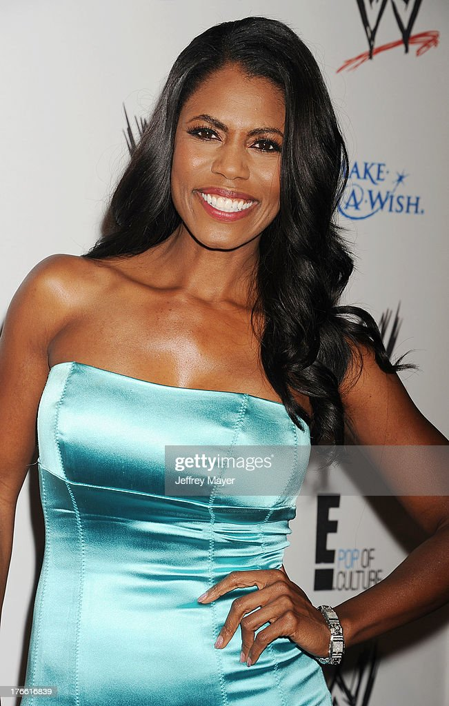 TV personality <a gi-track='captionPersonalityLinkClicked' href=/galleries/search?phrase=Omarosa+Manigault+Stallworth&family=editorial&specificpeople=216567 ng-click='$event.stopPropagation()'>Omarosa Manigault Stallworth</a> attends WWE & E! Entertainment's 'SuperStars For Hope' at the Beverly Hills Hotel on August 15, 2013 in Beverly Hills, California.
