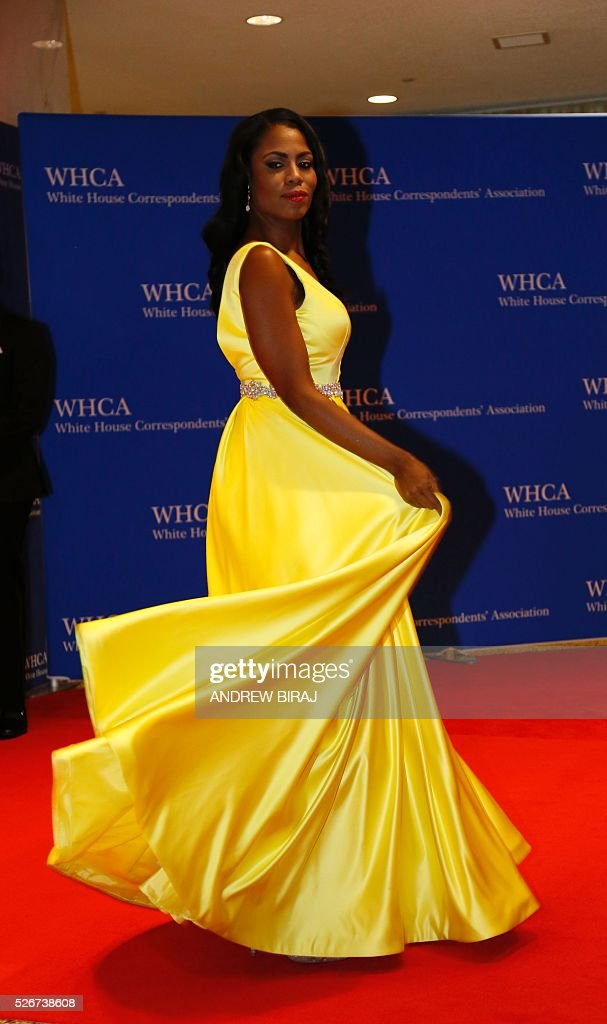 TV personality Omarosa Onee Manigault arrives for the 102nd White House Correspondents' Association Dinner in Washington, DC, on April 30, 2016. / AFP / Andrew Biraj