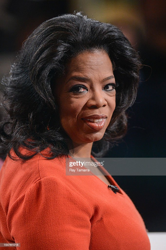 TV personality Oprah Winfrey guest hosts the 'Good Morning America' taping at the ABC Times Square Studios on October 25, 2012 in New York City.