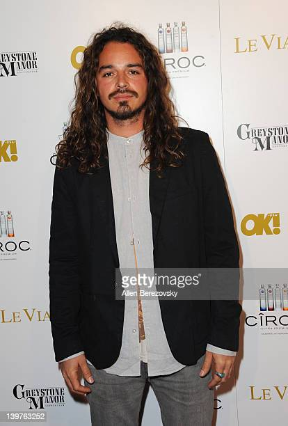 TV personality Ozzy Lusth attends OK Magazine PreOscar Party Arrivals at Greystone Manor Supperclub on February 23 2012 in West Hollywood California