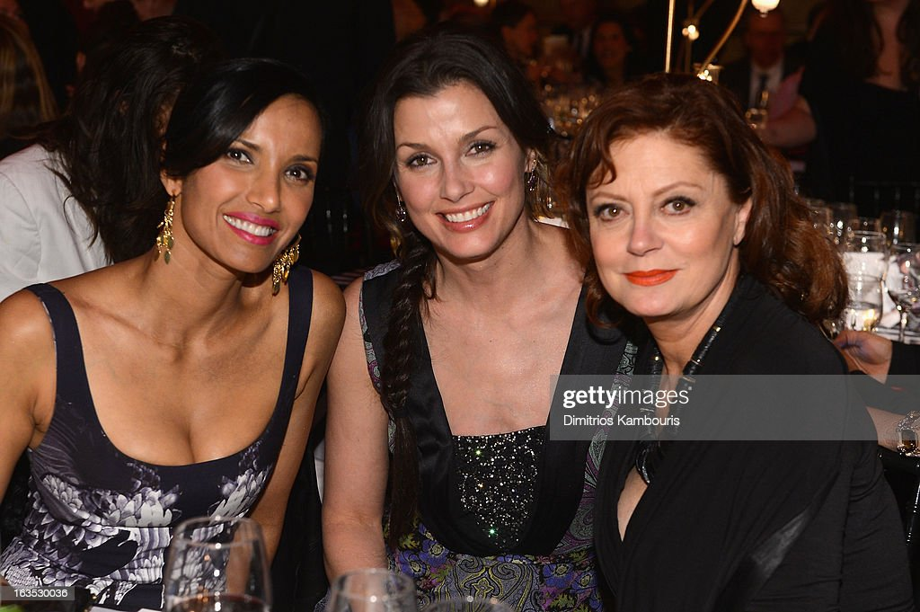 TV Personality Padma Lakshmi, actress Bridget Moynahan, and actress Susan Sarandon attend The Endometriosis Foundation of America's Celebration of The 5th Annual Blossom Ball at Capitale on March 11, 2013 in New York City.
