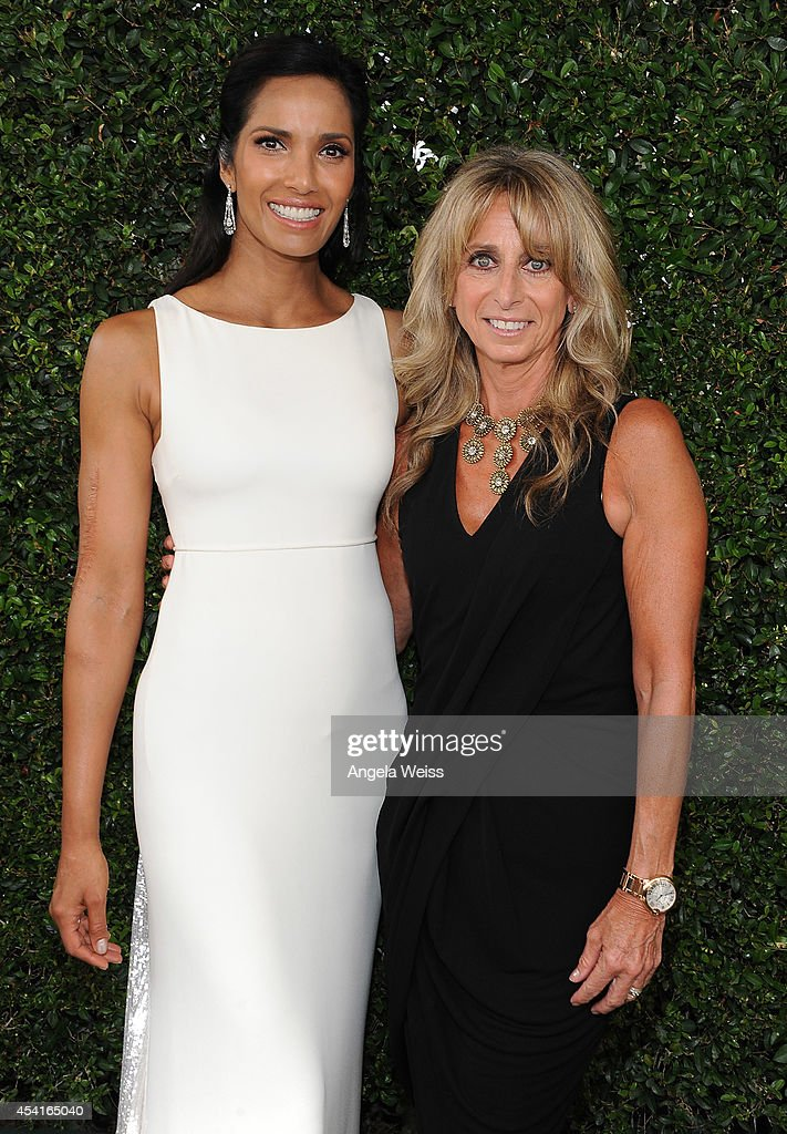 TV personality <a gi-track='captionPersonalityLinkClicked' href=/galleries/search?phrase=Padma+Lakshmi&family=editorial&specificpeople=201593 ng-click='$event.stopPropagation()'>Padma Lakshmi</a> (L) and Chairman, NBCUniversal Cable Entertainment Group <a gi-track='captionPersonalityLinkClicked' href=/galleries/search?phrase=Bonnie+Hammer&family=editorial&specificpeople=223874 ng-click='$event.stopPropagation()'>Bonnie Hammer</a> attend the 66th Annual Primetime Emmy Awards held at the Nokia Theatre L.A. Live on August 25, 2014 in Los Angeles, California.