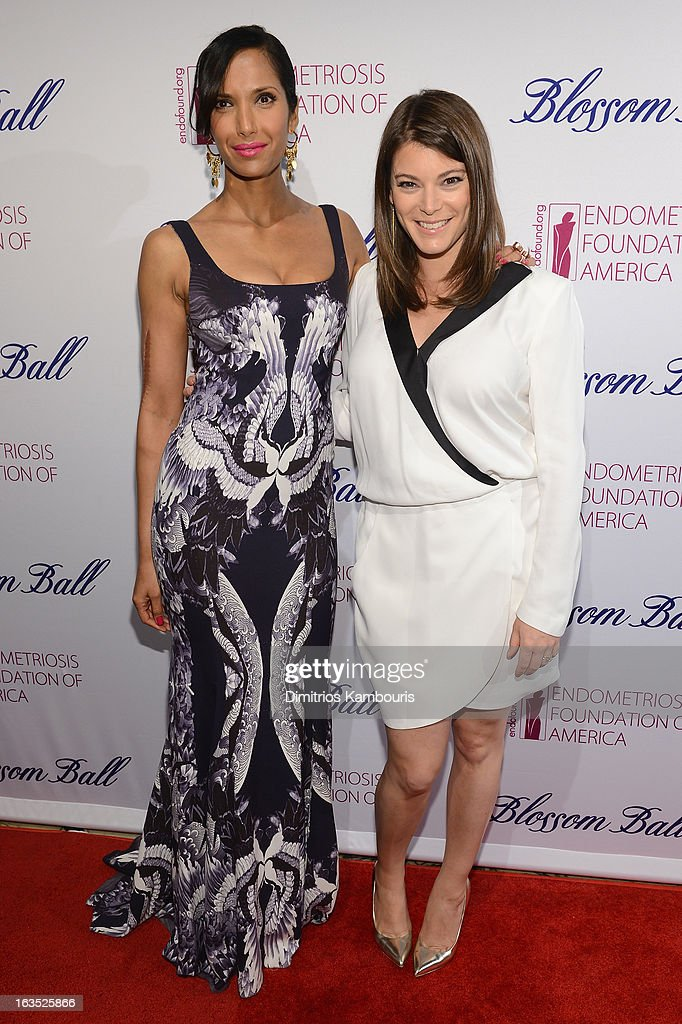 TV Personality Padma Lakshmi and culinary expert Gail Simmons attend The Endometriosis Foundation of America's Celebration of The 5th Annual Blossom Ball at Capitale on March 11, 2013 in New York City.