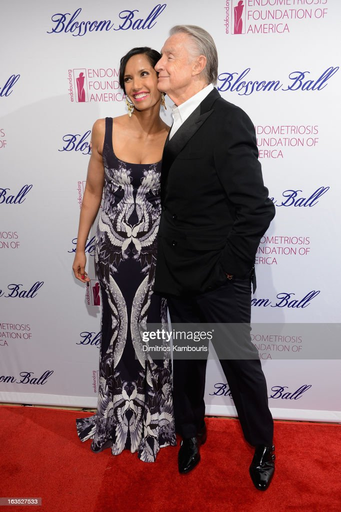 Personality Padma Lakshmi and director Joel Schumacher attend The Endometriosis Foundation of America's Celebration of The 5th Annual Blossom Ball at...