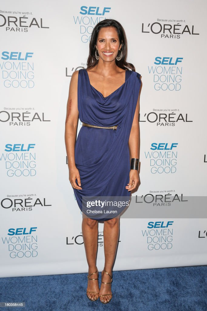 TV personality Padma Lakshmi arrives at the 6th annual SELF Magazine's Women Doing Good Awards at Apella on September 11 2013 in New York City
