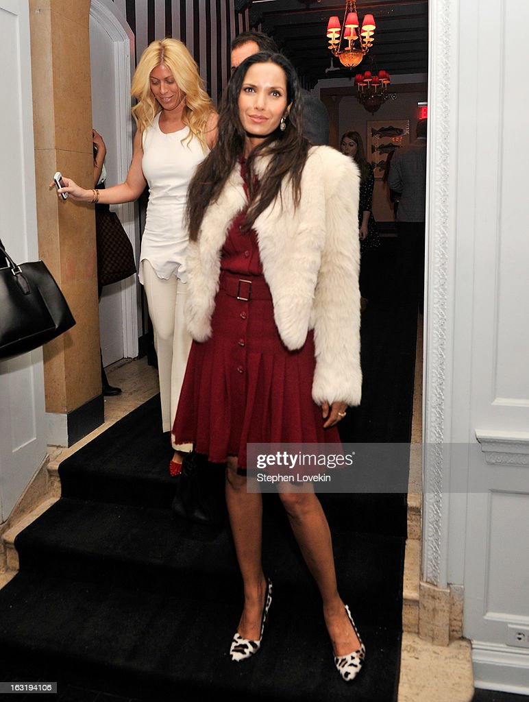 TV personality Padma Lakshmi attends the after party for the Gucci and The Cinema Society screening of 'Oz the Great and Powerful' at Harlow on March 5, 2013 in New York City.