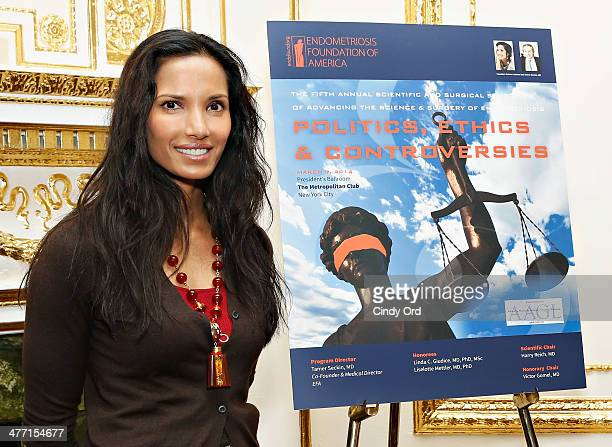 TV personality Padma Lakshmi attends The Fifth Annual Endometriosis Foundation Of America Medical Congress at The Metropolitan Club on March 7 2014...
