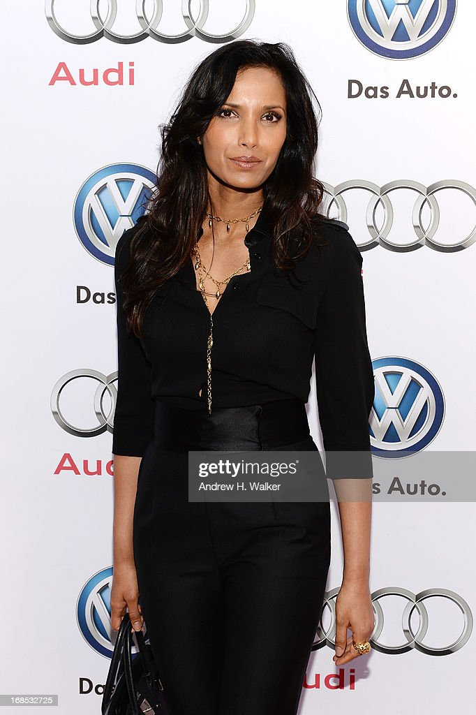TV personality Padma Lakshmi attends the grand opening of the Audi and Volkswagen Manhattan dealership on May 10, 2013 in New York City.