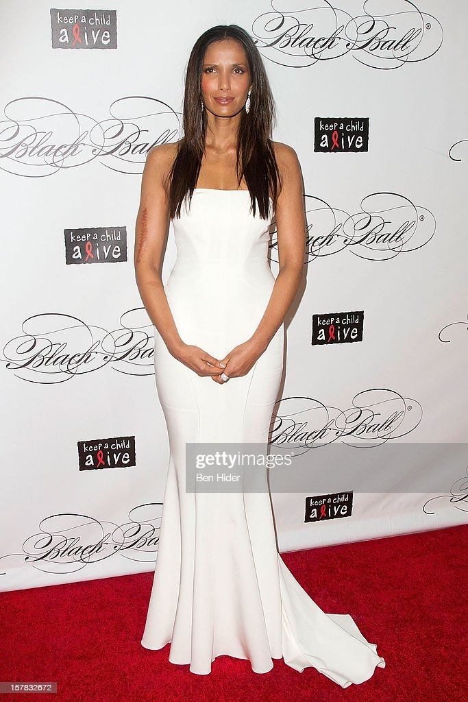 TV personality Padma Lakshmi attends the Keep A Child Alive's Black Ball Redux 2012 at The Apollo Theater on December 6, 2012 in New York City.