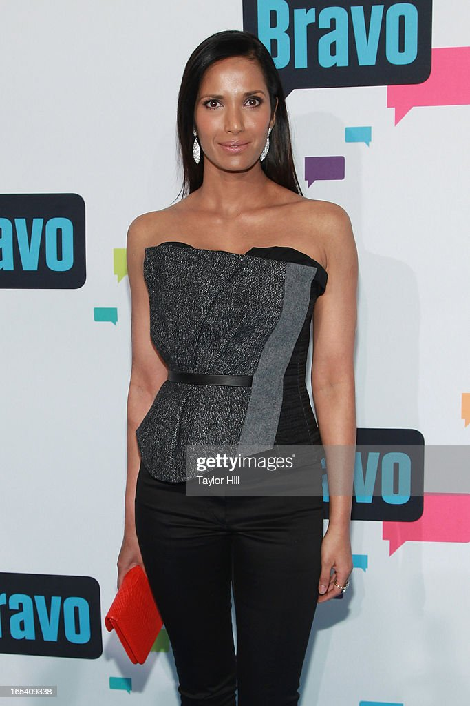 TV personality Padma Lakshmi of 'Top Chef' attends the 2013 Bravo Upfront at Pillars 37 Studios on April 3, 2013 in New York City.