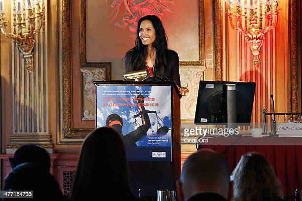 TV personality Padma Lakshmi speaks at The Fifth Annual Endometriosis Foundation Of America Medical Congress at The Metropolitan Club on March 7 2014...