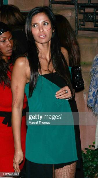 TV personality Padma Lakshmi visits the Ye Waverly Inn restauranton February 08 2008 in New York City New York