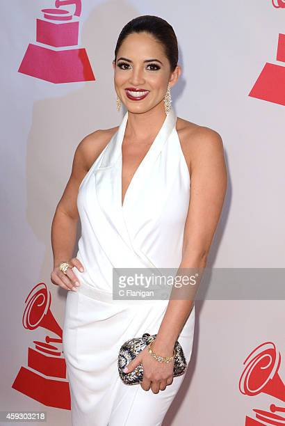 TV personality Pamela Silva Conde arrives to the 2014 Latin Grammy Person Of The Year Tribute on November 19 2014 in Las Vegas Nevada