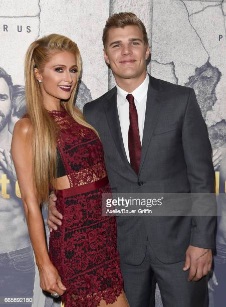 TV personality Paris Hilton and actor Chris Zylka arrive at the Season 3 Premiere of 'The Leftovers' at Avalon Hollywood on April 4 2017 in Los...