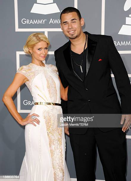 TV personality Paris Hilton and Afrojack arrive at the 54th Annual GRAMMY Awards held at Staples Center on February 12 2012 in Los Angeles California