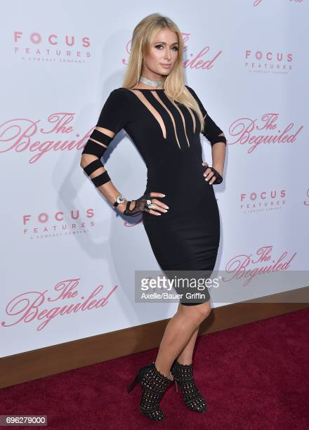 TV personality Paris Hilton arrives at the US Premiere of 'The Beguiled' at Directors Guild of America on June 12 2017 in Los Angeles California