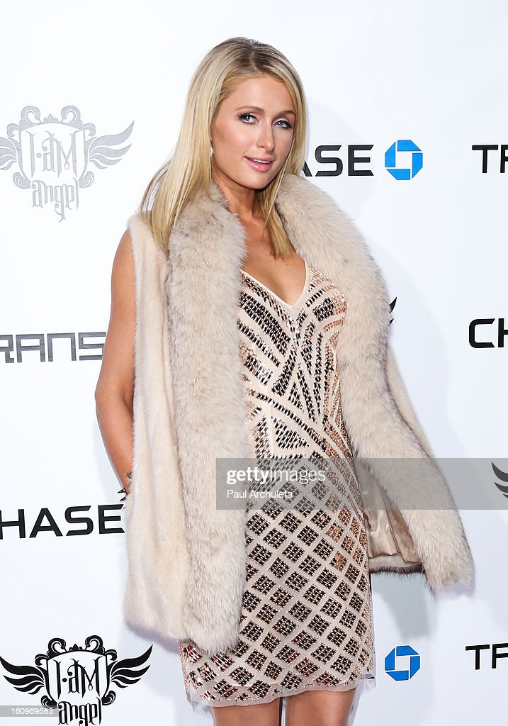TV Personality Paris Hilton attends the 2nd Annual will.i.am TRANS4M Boyle Heights benefit concert at Avalon on February 7, 2013 in Hollywood, California.