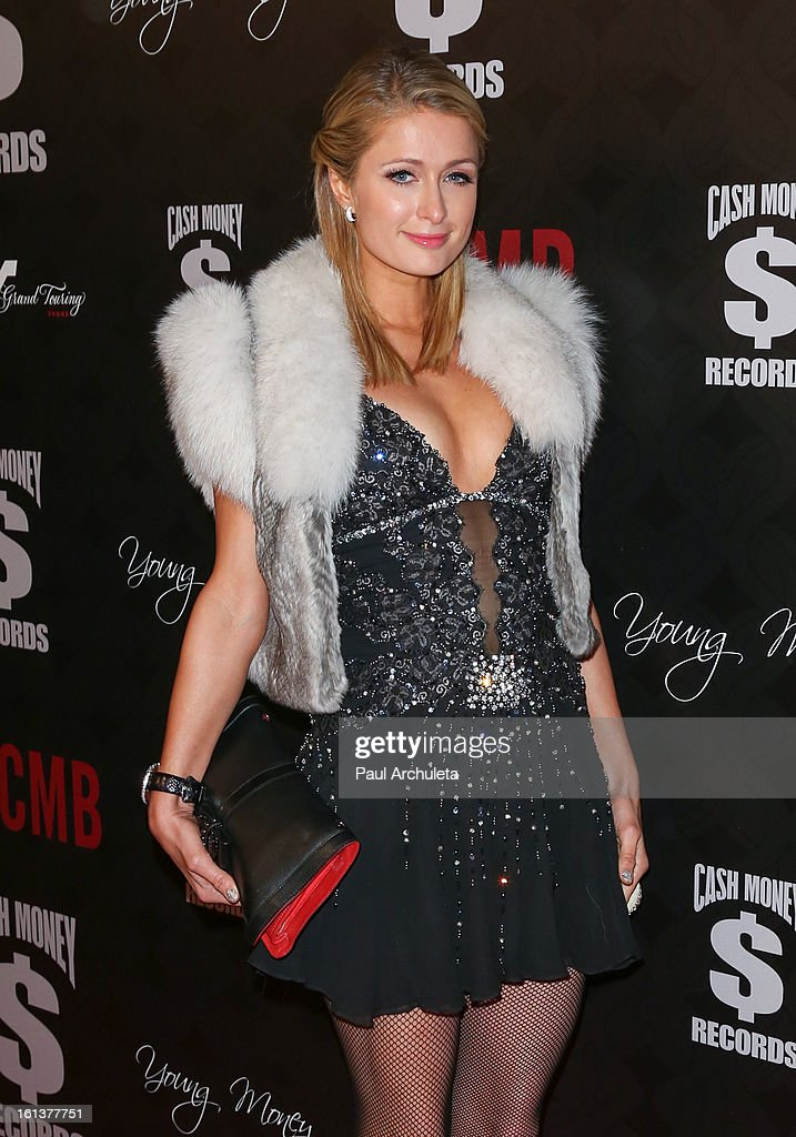 TV Personality Paris Hilton attends the Cash Money Records 4th annual Pre-GRAMMY Awards party on February 9, 2013 in West Hollywood, California.