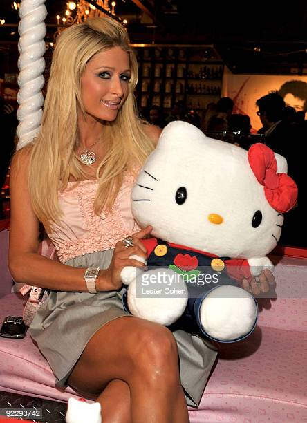 TV personality Paris Hilton attends the Hello Kitty 35th anniversary celebration held at Royal/T on October 22 2009 in Culver City California