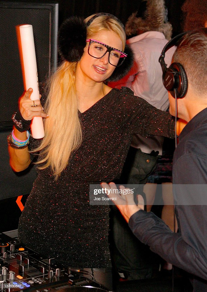 TV personality <a gi-track='captionPersonalityLinkClicked' href=/galleries/search?phrase=Paris+Hilton&family=editorial&specificpeople=171761 ng-click='$event.stopPropagation()'>Paris Hilton</a> attends the T-Mobile Presents Google Music at TAO, a nightlife event at the 2012 Sundance Film Festival on January 21, 2012 in Park City, Utah.