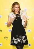 Personality Paris Hilton attends The World Dog Awards at Barker Hangar on January 10 2015 in Santa Monica California