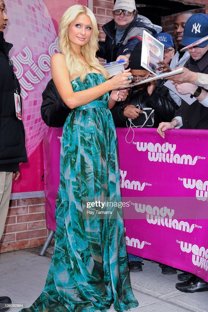 TV personality Paris Hilton leaves the 'Wendy Williams Show' taping at AMV Studios on February 17 2011 in New York City