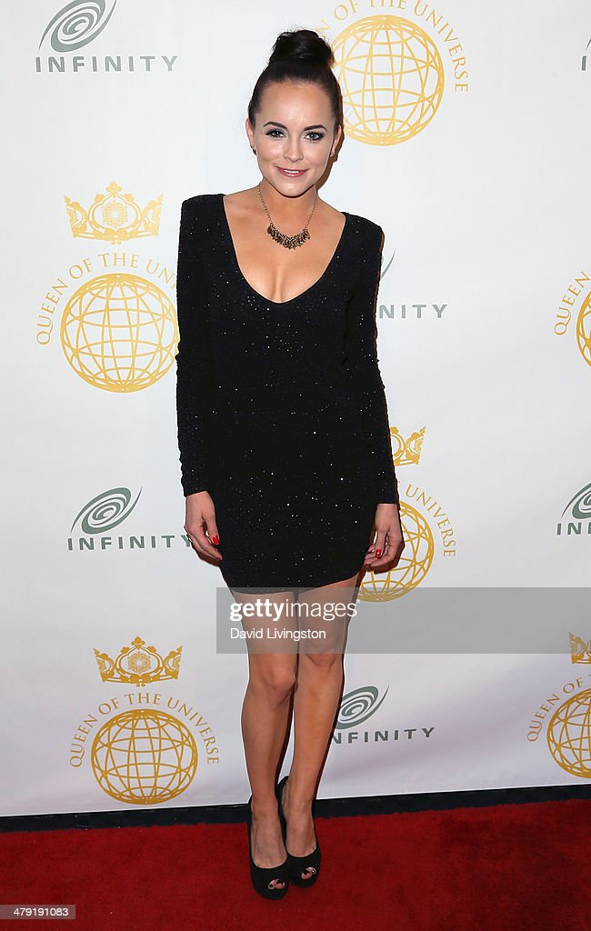 TV personality Pascale Wellin attends the Queen of the Universe International Beauty Pageant at the Saban Theatre on March 16, 2014 in Beverly Hills, California.