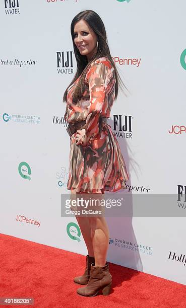 TV personality Patti Stanger arrives at the Ovarian Cancer Research Fund's Inaugural Super Saturday LA event at Barker Hangar on May 17 2014 in Santa...