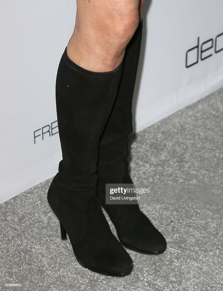 TV personality Patti Stanger (shoe detail) attends the Harper's BAZAAR celebration of Cameron Silver and Christos Garkinos of Decades new Bravo series 'Dukes of Melrose' at The Terrace at Sunset Tower on February 28, 2013 in West Hollywood, California.