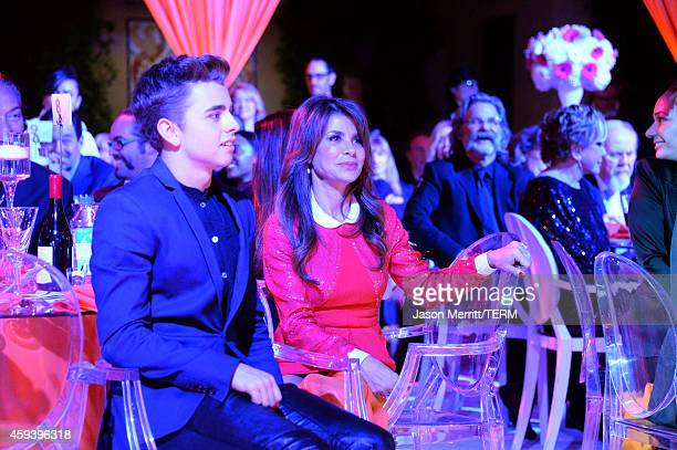 TV personality Paula Abdul and actor Michael Dameski attend Goldie Hawn's inaugural 'Love In For Kids' benefiting the Hawn Foundation's MindUp...