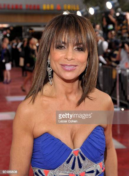 TV personality Paula Abdul arrives at the Los Angeles premiere of 'This Is It' at Nokia Theatre LA Live on October 27 2009 in Los Angeles California