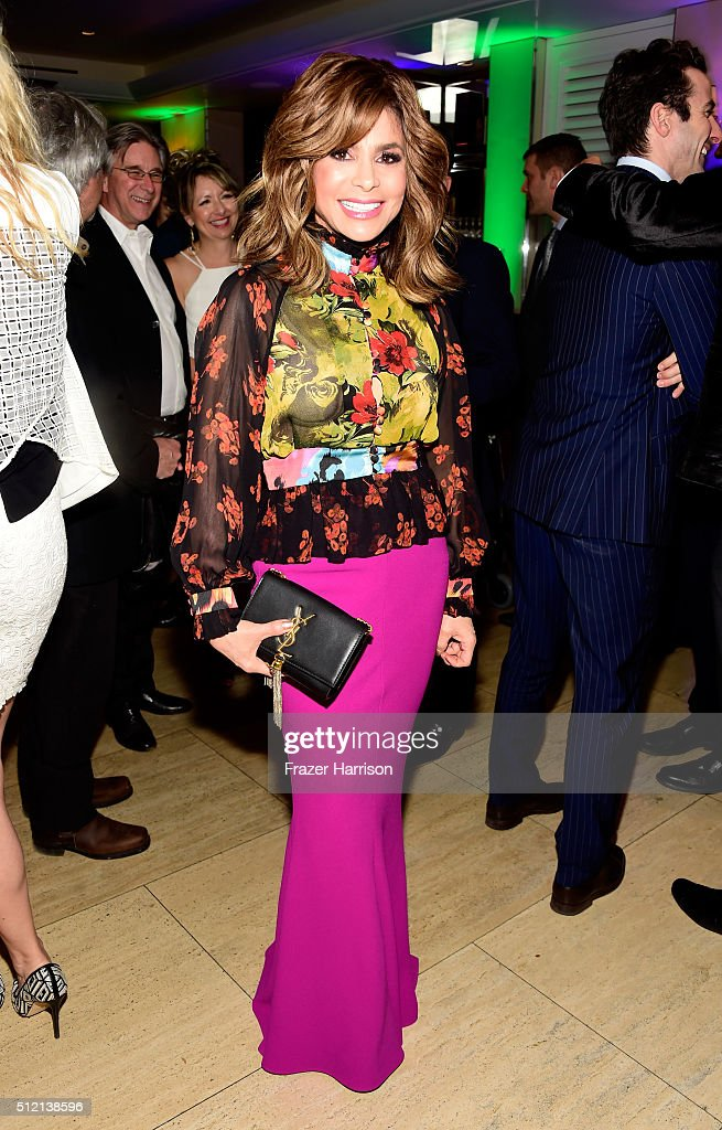 TV personality Paula Abdul attends Global Green USA's 13th annual preOscar party at Mr C Beverly Hills on February 24 2016 in Los Angeles California