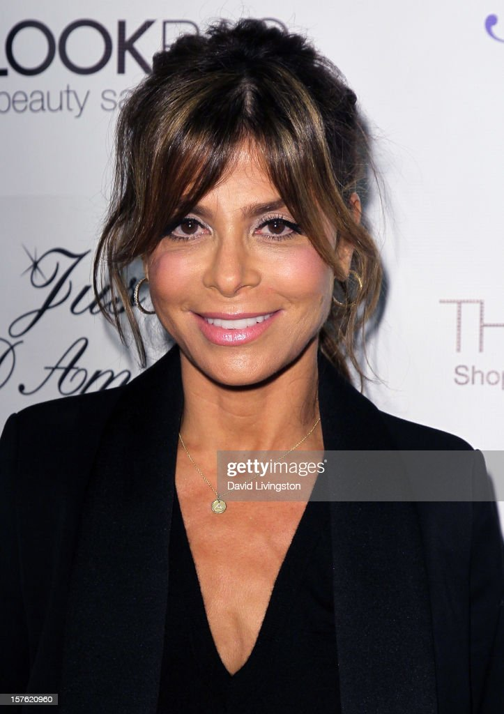 TV personality Paula Abdul attends the Fredric Fekkai Salon holiday party at Frederic Fekkai Hair Salon on December 4, 2012 in West Hollywood, California.