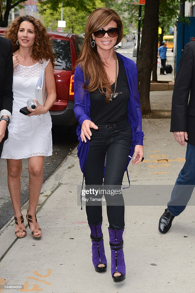 TV personality Paula Abdul enters the 'Wendy Williams Show' taping at AMV Studios on May 16 2012 in New York City