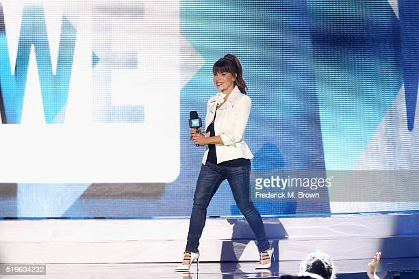 TV personality Paula Abdul speaks onstage at WE Day California 2016 at The Forum on April 7 2016 in Inglewood California